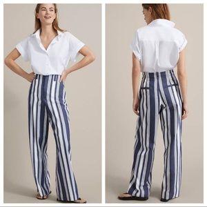 NWT. Massimo Dutti Striped Trousers. Size 2.